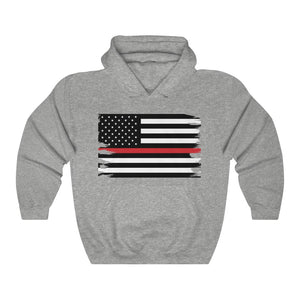 Thin Red Line Flag Hooded Sweatshirt
