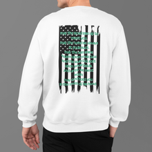 "Load image into Gallery viewer, ""An Irish Blessing"" American Flag Heritage Crewneck Sweatshirt"