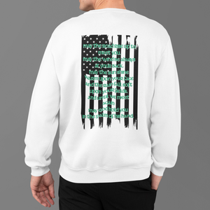 """An Irish Blessing"" American Flag Heritage Crewneck Sweatshirt"