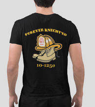 "Load image into Gallery viewer, *NEXT ORDERS WILL SHIP END OF JUNE* ""Forever Knecht'ed"" Men's Tee 100% Net Proceeds Donated In Honor of Chief Brian Knecht of the Nyack Fire Department"