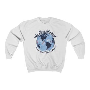 "100% Net Proceeds Donated ""We Are United, Even When We're Apart"" Unisex Crewneck Sweatshirt"