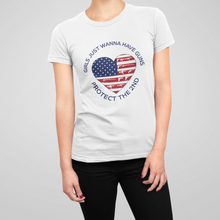 Load image into Gallery viewer, Girls Just Wanna Have Guns Women's Tee