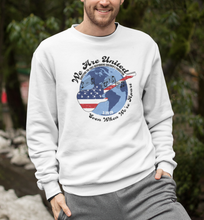"Load image into Gallery viewer, 100% Net Proceeds Donated ""We Are United, Even When We're Apart"" Unisex Crewneck Sweatshirt"