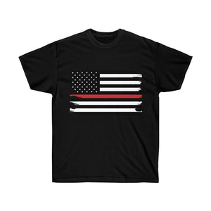 Thin Red Line Flag Mens T-Shirt