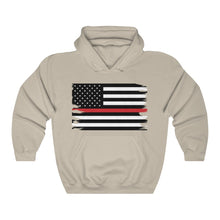 Load image into Gallery viewer, Thin Red Line Flag Hooded Sweatshirt