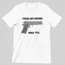 "Load image into Gallery viewer, ""Social Distancing Since 1911"" Men's Tee"