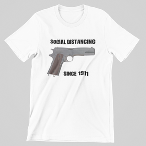 """Social Distancing Since 1911"" Men's Tee"