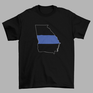 U.S. State Blue Line Mens T-Shirt