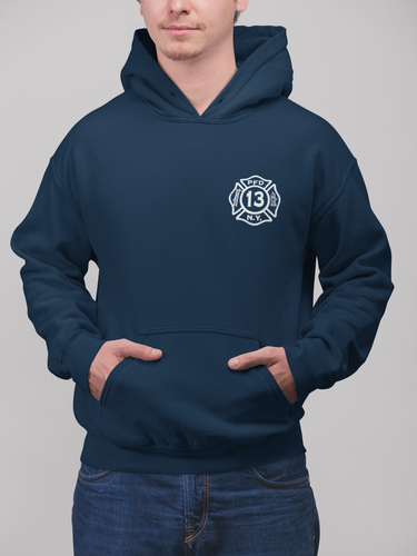 Thin Blue Line Flag Hooded Sweatshirt
