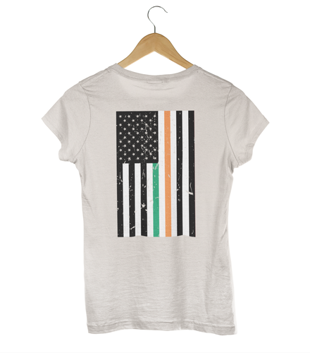 American-Irish Flag Heritage Women's Tee