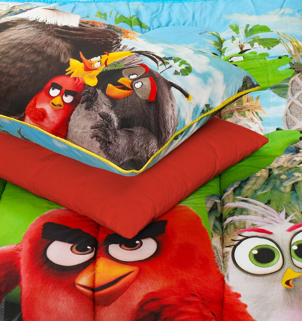 4 PCs Cartoon Character Comforter Set - Angry Birds