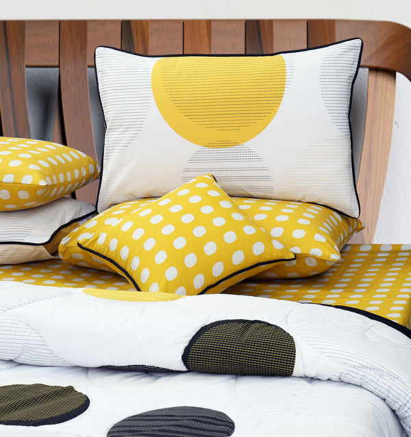 6 PCs Bed Spread Set - Dotted