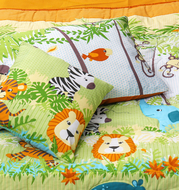 Cartoon Character Quilt Cover - Jungle Voyage