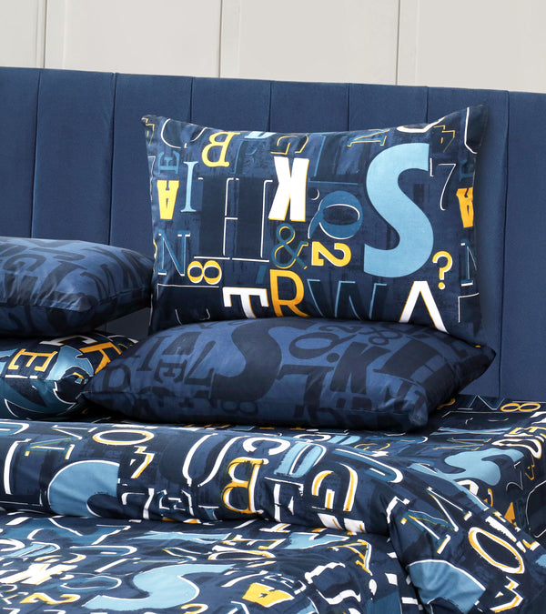 6 PCs Bed Spread Set - Alphabets