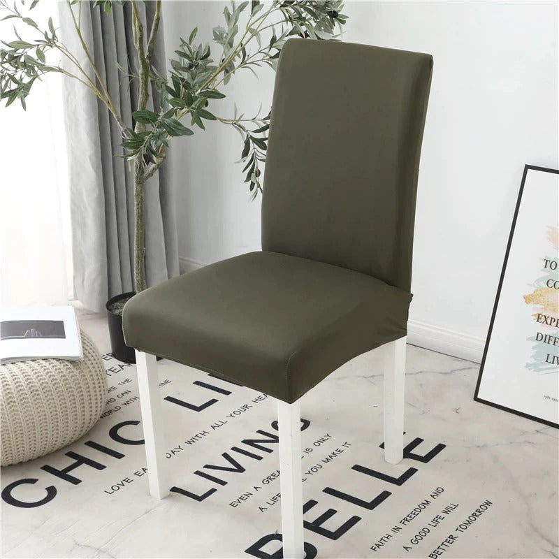 Dustproof Dining Chair Slip Covers - Olive Green