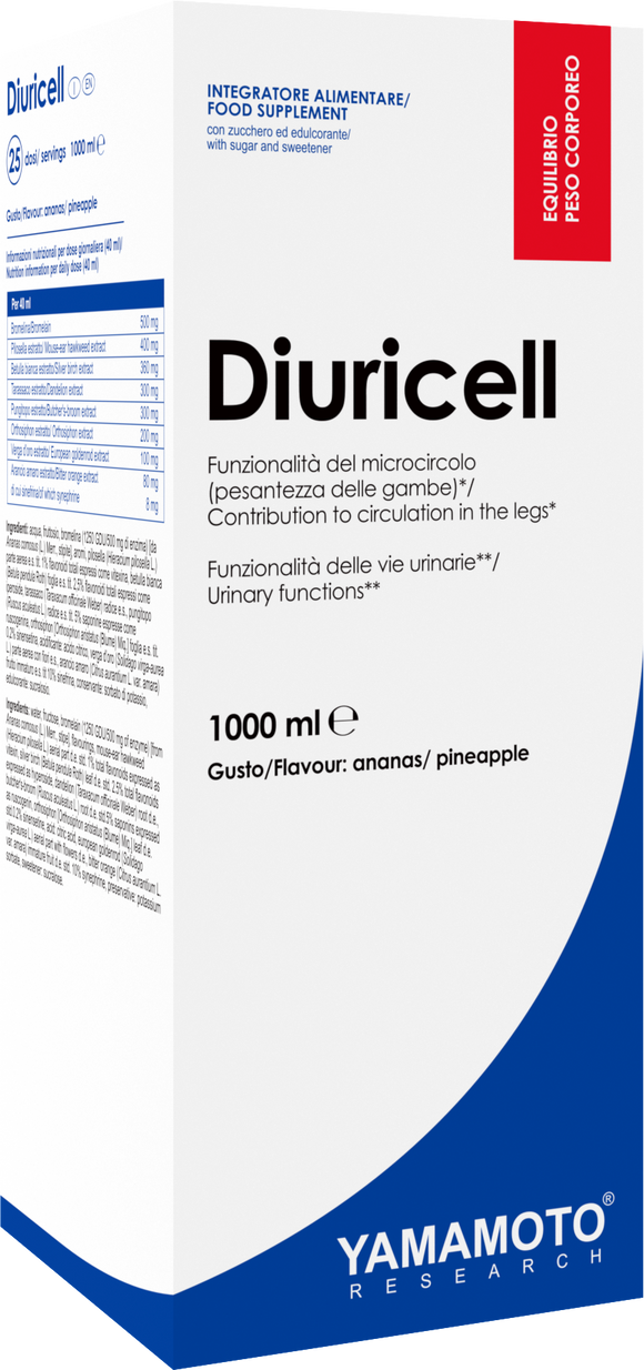 Diuretic DIURICELL® 1000 ml Ananas