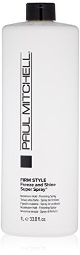 Paul Mitchell Freeze And Shine Super Spray, 33.8 Fl Oz