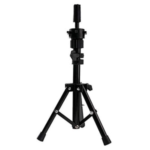 Wig,SUPPION Adjustable Wig Head Tripod Stand Mannequin Tripod Hairdressing Training Holder - Black - ABS and Metal (A)