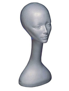 Rubie's Long Neck Styrofoam Wig Stand, White, One Size