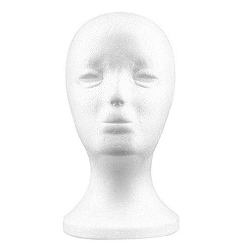 eroute66 Practical Foam Female Mannequin Head Wigs Glasses Cap Display Holder Stand Model
