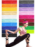 Headbands PorsMing Exercise Bands Sweat Bands Hair Bands Elastic Stretch Head Wraps for Women Men Girls Yoga Workout Gym Sports Fitness Non Slip and Slide Fashion Colors Pack of 19