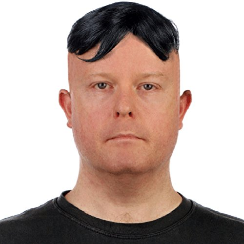Novelty Black Awful Toupee Costume Wig