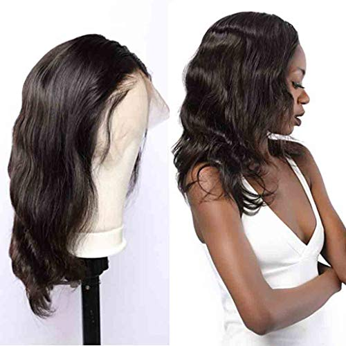 Nobel Hair Lace Front Human Hair Wigs for Women Pre Plucked Natural Hairline 130% Denisty Brazilian Virgin Hair Body Wave Wigs with Baby Hair Natural Color 10Inch ­