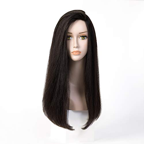 100% European Hair Small Layer Sheitels Wig Silk Top 4X4 Kosher Wig Natural Black Straight 24 Inch In Stock