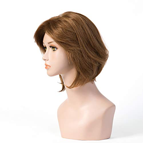 100% Virgin Europe Hair BOB Wig Sheitels MoNo 5X5 Kosher Wig Dark Brown 2# 10 Inch