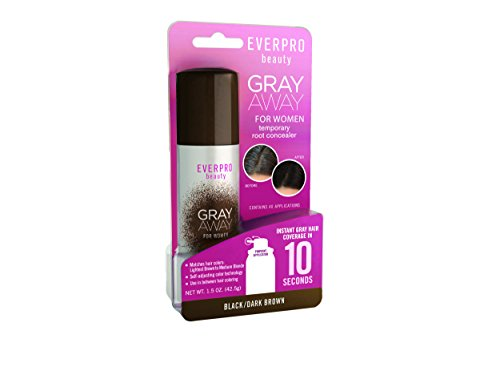 Everpro Gray Away Temporary Root Concealer, Black/Dark Brown 1.5 oz