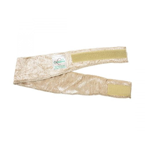 Beige No-Slip Wig Band Scarf Gripper Extra Hold Comfort Band