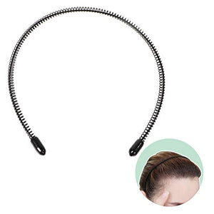 Men's Slicked Back Headband, Outdoor Sports Fashion Pigtail Hair Band/Never Paint-shedding Metal Head Buckle Clip for Mens Long Hair, Braid and other Hair Styles - Small Spring