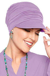 Bamboo Slouchy Newsboy Hat-Caps for Women with Chemo Cancer Hair Loss Luxury Bamboo - Wild Orchid