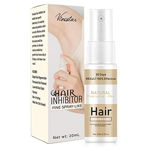 Hair Inhibitor, Painless Hair Stop Growth Spray, Hair Removal Spray, Non-Irritating Hair Removal Inhibitor, for Face, Arm, Leg, Armpit, Make Your Skin Smooth