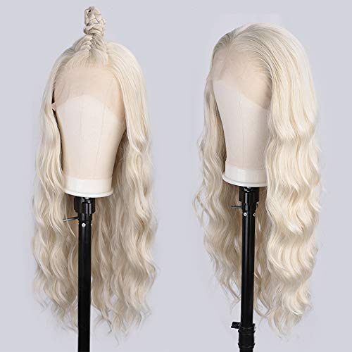 Vigorous Blonde Wig Lace Front Wigs for Women Free Part Long Wavy Wig Heat Resistant Realistic Natural Looking Synthetic Wigs 26 Inch