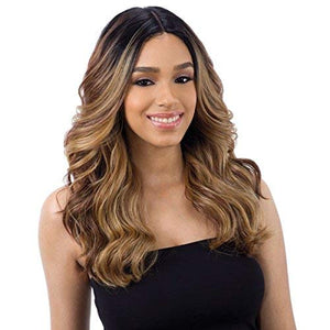 "FreeTress Equal Synthetic Hair Wig Lace 5"" Deep Part Lace Valentino (1B)"