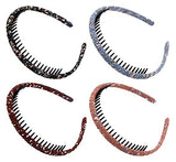 STHUAHE4PC Multicolor Protection Resin Teeth Comb Hair Hoop Hairband Headband Hair Accessories by Beauty hair (4 Colors)