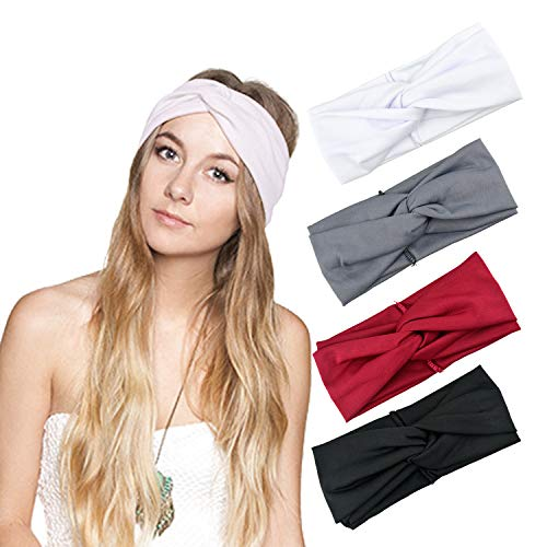 DRESHOW 1950's Vintage Modern Style Elastic Women Turban Headbands Twisted Cute Hair Band Accessories