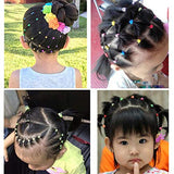 200pcs 2.5mm Mix Colors Baby Elastic Hair Ties Hair Bands Holders Headband Hair Accessories for Baby Girls Infants Toddlers