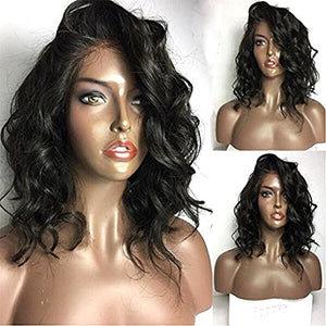 Fennell Loose Wave Lace Front Wigs with Baby Hair Short Bob Human Hair Wigs for Ladies (10 Inch, Lace Front Wig)