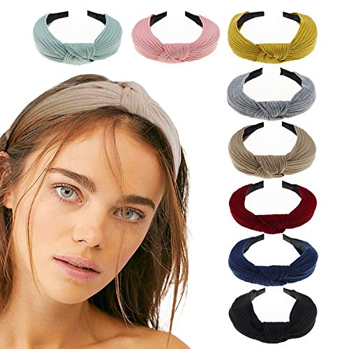 DRESHOW 8 Pack Women's Headbands Plastic Headwraps Hair Bands Bows Hair Accessories