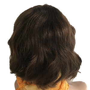 "Crystal Factory Jewish/Sheitel Wig 10"" Full Machine Made Brazilian Virgin Human Hair Wig #4 Color"