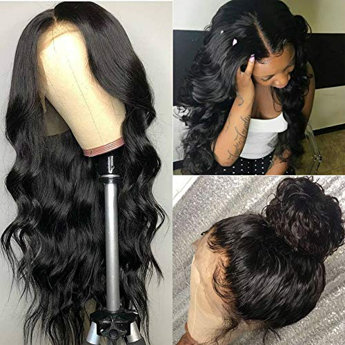 Catti Hair 13x4 Lace Front Wigs Human Hair 18 inch Body Wave Human Hair Wig 150% Density for Black Women Lace Frontal Wigs with Baby Hair Natural Color