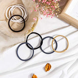 Whaline 4mm Hair Tie Ponytail Holders Multicolor Rubber Elastic Hair Bands for Thick Heavy and Curly Hair (100 Pieces)