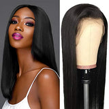 Glueless Lace Front Wigs Human Hair Straight Malaysian Virgin Human Hair Wigs Natural Color 130% Density Pre Plucked Lace Wigs Human Hair with Baby Hair for Black Women 26inch