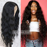 Jolitime Hair Long Loose Wave Hair Black Color Free Part Wigs for Fashion Women Glueless Synthetic Lace Front Wigs water wavys Hair