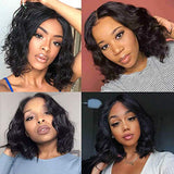 Black Wig Short Bob Wig for White Black Women Synthetic Curly Wavy Black Wig Shoulder Length Curly Wavy Synthetic Wigs