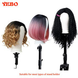 YEBO 22 Inch Polyurethane Canvas Block Head Wig Display Stying Mannequin Head With Stand for Making Wigs