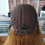"OLOKEY Kosher Wig Sheitel European Golden Brown Lace top 55 24"" Jewish Wig Sheitels"