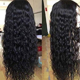 Human Hair Water Wave Wigs 13X6 Lace Front Wigs Indian Unprcesed Virgin Hair 7A Grade Free Part Deep Sapce Glueless Pre Plucked With Baby Hair High Density Cheap Amazon Prime 26 Inch